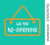 reopen text  vector open sign.... | Shutterstock .eps vector #1764276752