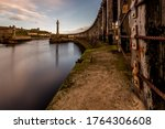 Dusk At Whitby Harbour From The ...