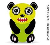 cute cartoon monster on a white ... | Shutterstock .eps vector #176431292