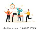 stressful situation at work ... | Shutterstock .eps vector #1764317975