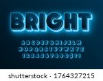 futuristic sci fi alphabet ... | Shutterstock .eps vector #1764327215