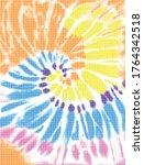 tie dye spiral colorfull design | Shutterstock .eps vector #1764342518