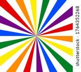 lgbt flag. rainbow background.... | Shutterstock .eps vector #1764352268