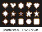 lgbt flag. circle  star ... | Shutterstock .eps vector #1764370235