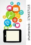 business internet on  different ... | Shutterstock . vector #176437115