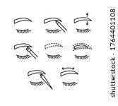 eyebrow contour correction line ... | Shutterstock .eps vector #1764401108
