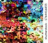 digital painted abstract design ... | Shutterstock . vector #1764416855