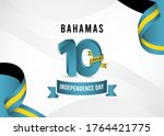 bahamas independence day vector ... | Shutterstock .eps vector #1764421775