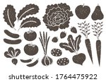 grunge farm produce set with... | Shutterstock .eps vector #1764475922