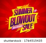 summer blowout sale banner... | Shutterstock .eps vector #1764515435