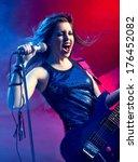young teenager rock star...   Shutterstock . vector #176452082
