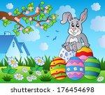 easter bunny theme image 9  ... | Shutterstock .eps vector #176454698