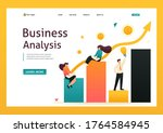 schedule of revenue growth and... | Shutterstock .eps vector #1764584945