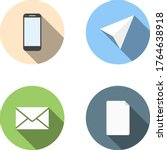 set of four vector flat icons   ...