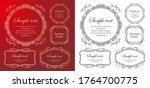 christmas frame design. snow... | Shutterstock .eps vector #1764700775