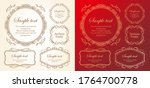 christmas frame design. snow... | Shutterstock .eps vector #1764700778