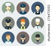 app,avatar,buildler,burglar,business,businessman,cabdriver,cartoon,character,chauffeur,circle,constable,cook,cop,design