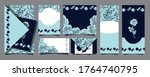 big set of postcards with... | Shutterstock .eps vector #1764740795