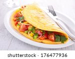 Omelette Filled With Vegetables