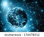 best internet concept of global ... | Shutterstock . vector #176478512