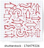 sketch arrow collection for... | Shutterstock .eps vector #176479226