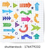 sketch arrow collection for... | Shutterstock .eps vector #176479232