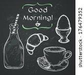 hand drawn sketch of morning... | Shutterstock .eps vector #176479352