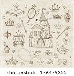 sketches of princess'... | Shutterstock .eps vector #176479355