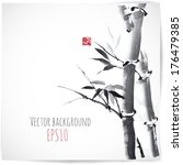Card With Bamboo On White...