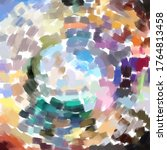 abstract painting colorful... | Shutterstock .eps vector #1764813458