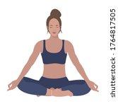 energy breathing exercises....   Shutterstock .eps vector #1764817505