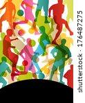 soccer football players active...   Shutterstock .eps vector #176487275