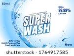 laundry detergent. powder for... | Shutterstock .eps vector #1764917585