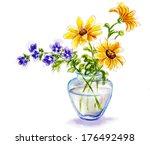 Spring Flowers In Vase ...
