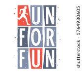 run for fun t shirt design.... | Shutterstock .eps vector #1764930605