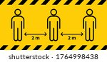 social distancing. keep the 1 2 ...   Shutterstock .eps vector #1764998438