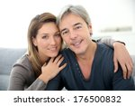 middle aged couple relaxing on... | Shutterstock . vector #176500832