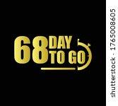 68 day to go gradient label...   Shutterstock .eps vector #1765008605