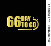 66 day to go gradient label...   Shutterstock .eps vector #1765008935