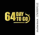 64 day to go gradient label...   Shutterstock .eps vector #1765009112