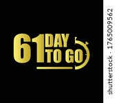 61 day to go gradient label...   Shutterstock .eps vector #1765009562