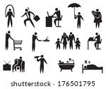 icon of man doing his daily... | Shutterstock .eps vector #176501795