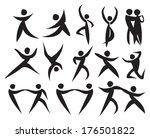icon of people dancing in...   Shutterstock .eps vector #176501822