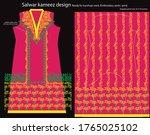 salwar kameez artwork for ready ... | Shutterstock .eps vector #1765025102