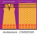salwar kameez artwork for ready ... | Shutterstock .eps vector #1765025105