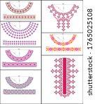 salwar kameez artwork for ready ... | Shutterstock .eps vector #1765025108