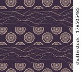 seamless pattern vector | Shutterstock .eps vector #176505482