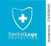 vector logo for dentist...   Shutterstock .eps vector #1765056065