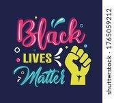 black lives matter lettering...   Shutterstock .eps vector #1765059212