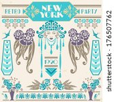 new york retro party 1920 | Shutterstock .eps vector #176507762
